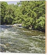 Kayaking On Gull River Wood Print