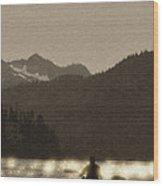 Kayaking On Kachemak Bay Wood Print