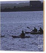 Kayaking Stonington Wood Print