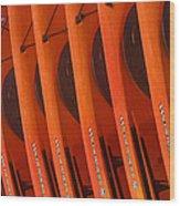 Kayaks No. 3 Wood Print