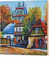 Kazimierz Dolny In Fall Wood Print