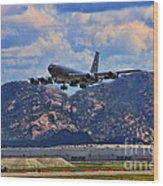 Kc-135 Take Off Wood Print