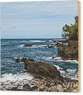 Keanae Coast - The Rugged Volcanic Coast Of The Keanae Peninsula In Maui. Wood Print