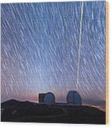 Keck Laser Piercing The Heavens 1 Wood Print
