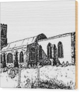 Kedington Church Wood Print