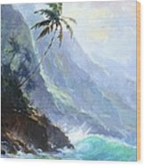 Ke'e Beach Wood Print