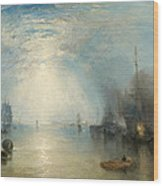 Keelmen Heaving In Coals By Moonlight Wood Print by Joseph Mallord William Turner