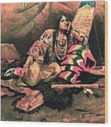 Keema Indian Princess Wood Print