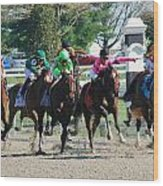 Keeneland Run Wood Print