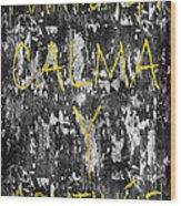 Keep Calm And Carry On Spanish Wood Print