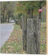 Keep It Between The Guard Rails Wood Print