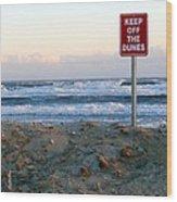 Keep Off The Dunes Wood Print