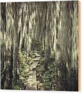 Keep On The Path Wood Print