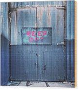 Keep Out Wood Print