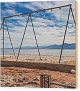 Keep Out No Playing Here Swing Set Playground Wood Print