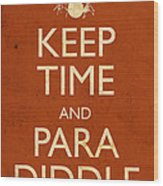 Keep Time And Paradiddle Poster Wood Print