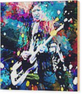 Keith Richards Wood Print by Rosalina Atanasova