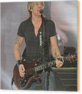 Musician Keith Urban Wood Print