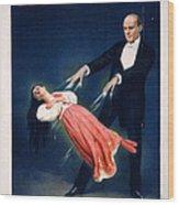Kellar Levitation Vintage Magic Poster Wood Print