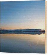 Kelowna Horizon Twin Suns Wood Print