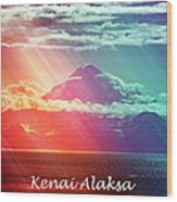 Kenai Alaska Mount Redoubt Wood Print