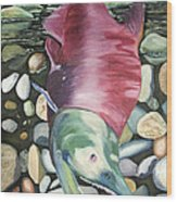 Kenai Ded Red 2 Wood Print by Amy Reisland-Speer