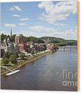 Kennebec River Wood Print