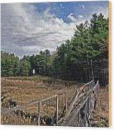 Kennebec River Rr Lighthouse Wood Print