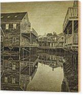 Kennebunkport Dock Square Wood Print