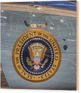 Kennedy Air Force One Wood Print