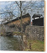 Kennedy Covered Bridge - Chester County Pa Wood Print