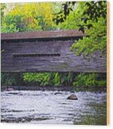 Kennedy Covered Bridge - Kimberton Pa. Wood Print