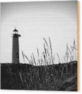 Kenosha North Pier Lighthouse Wood Print