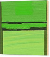 Kensington Gardens Series Green On Green Oil On Canvas Wood Print