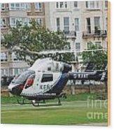 Kent Air Ambulance Wood Print