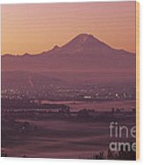 Kent Valley With Mount Rainier Wood Print
