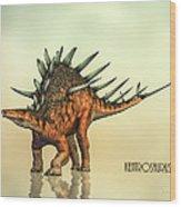 Kentrosaurus Dinosaur Wood Print by Bob Orsillo