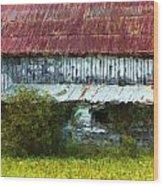 Kentucky Barn In Summer Wood Print