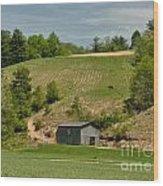 Kentucky Barn Quilt - Americana Star 2 Wood Print
