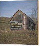 Kentucky Club Barn Wood Print