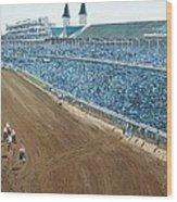 Kentucky Derby - Horse Race Wood Print