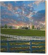 Kentucky Famous Horse Hotel Wood Print