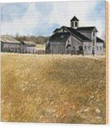 Kentucky Farm Wood Print