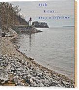 Kentucky Lake Inlet Lighthouse Travel Wood Print