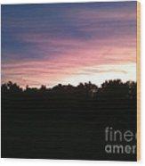 Kentucky Sunset Wood Print