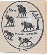 Kenya Animals Wood Print