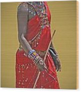 Kenya Warrior Wood Print