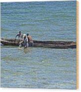 Kenyan Fishermen Wood Print