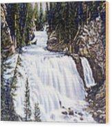 Kepler Cascades Yellowstone National Park Wood Print