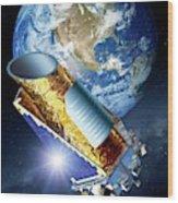 Kepler Space Telescope Wood Print